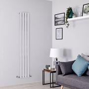 Milano Alpha - Chrome Flat Panel Vertical Designer Radiator - 1800mm x 300mm