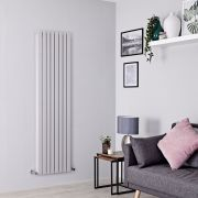 Milano Capri - Light Grey Flat Panel Vertical Designer Radiator - 1780mm x 472mm (Double Panel)