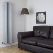 Milano Java - Silver Vertical Designer Radiator - 1780mm x 354mm
