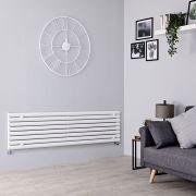 Milano Aruba - White Horizontal Designer Radiator - 472mm x 1780mm