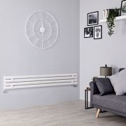 Milano Aruba Slim - White Space-Saving Horizontal Designer Radiator - 236mm x 1780mm