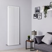 Milano Aruba - White Vertical Designer Radiator - 1780mm x 590mm (Double Panel)