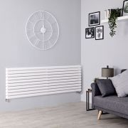 Milano Aruba - White Horizontal Designer Radiator - 590mm x 1780mm (Double Panel)