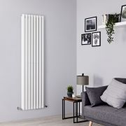 Milano Aruba - White Vertical Designer Radiator - 1780mm x 472mm (Double Panel)