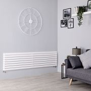 Milano Aruba - White Horizontal Designer Radiator - 472mm x 1780mm (Double Panel)