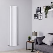 Milano Aruba - White Vertical Designer Radiator - 1780mm x 354mm (Double Panel)