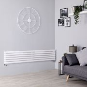 Milano Aruba - White Horizontal Designer Radiator - 354mm x 1780mm (Double Panel)