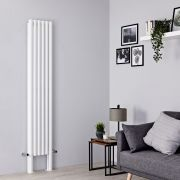 Milano Aruba Plus - White Vertical Designer Radiator - 2000mm x 354mm (Double Panel)