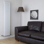 Milano Java - White Vertical Designer Radiator - 1780mm x 360mm