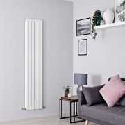 Milano Capri - White Flat Panel Vertical Designer Radiator - 1780mm x 354mm (Double Panel)