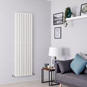 Milano Alpha - White Flat Panel Vertical Designer Radiator - 1780mm x 560mm (Double Panel)