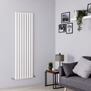 Milano Viti - White Diamond Panel Vertical Designer Radiator - 1780mm x 560mm