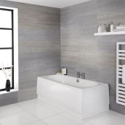 Milano Overton - White Modern Double-Ended Standard Bath - 1800mm x 800mm