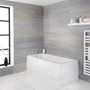 Milano Farrington - White Modern Single Ended Standard Bath - 1700mm x 700mm