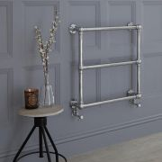 Milano Derwent - Traditional Brass Minimalist Heated Towel Rail - 685mm x 685mm