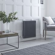 Milano Windsor - Traditional Anthracite 3 Column Electric Radiator 600mm x 585mm (Horizontal)