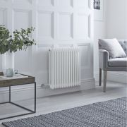 Milano Windsor - Traditional White 3 Column Electric Radiator 600mm x 608mm (Horizontal)