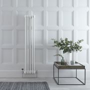 Milano Windsor - White Traditional Vertical Column Radiator - 1500mm x 290mm (Double Column)