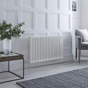 Milano Windsor - Traditional 22 x 2 Column Electric Radiator Cast Iron Style White 600mm x 1013mm (Horizontal)