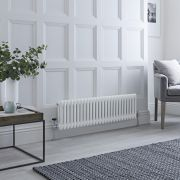 Milano Windsor - White Horizontal Traditional Column Radiator - 300mm x 1190mm (Double Column)
