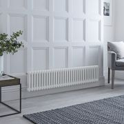 Milano Windsor - Traditional 33 x 2 Column Electric Radiator Cast Iron Style White 300mm x 1508mm