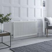 Milano Windsor - White Traditional Horizontal Column Radiator - 600mm x 1170mm (Double Column)