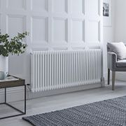Milano Windsor - Traditional White Horizontal Column Radiator - 600mm x 1508mm (Double Column)