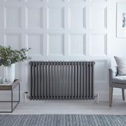 Milano Windsor - Traditional Anthracite Horizontal Column Radiator - 600mm x 990mm (Triple Column)