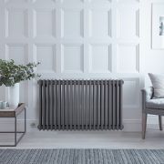 Milano Windsor - Traditional Anthracite 3 Column Electric Radiator 600mm x 990mm (Horizontal)