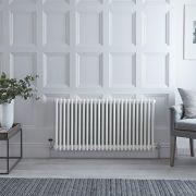 Milano Windsor - White Horizontal Traditional Column Radiator - 600mm x 1190mm (Four Column)
