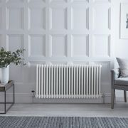 Milano Windsor - White Traditional Horizontal Column Radiator - 600mm x 1170mm (Four Column)