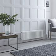 Milano Windsor - Traditional White 4 Column Electric Radiator 300mm x 990mm (Horizontal)