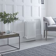 Milano Windsor - Traditional White 4 Column Electric Radiator 600mm x 405mm (Horizontal)