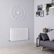 Milano Aruba Aiko - White Horizontal Designer Radiator - 600mm x 1000mm (Double Panel)