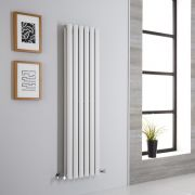 Milano Aruba Aiko - White Vertical Designer Radiator - 1400mm x 354mm (Double Panel)
