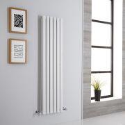 Milano Aruba Aiko - White Vertical Designer Radiator - 1400mm x 354mm