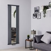Terma Intra - Stone Vertical Designer Radiator With Mirror - 1900mm x 640mm