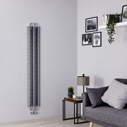 Terma Ribbon - Silver Vertical Designer Radiator - 1720mm x 290mm