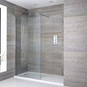 Milano Portland - Recessed Walk-In Shower Enclosure with Walk-In Tray - Choice of Sizes