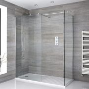 Milano Portland - Corner Walk-In Shower Enclosure with Walk-In Tray - Choice of Sizes