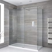 Milano Portland - Corner Walk-In Shower Enclosure with Tray - Choice of Sizes