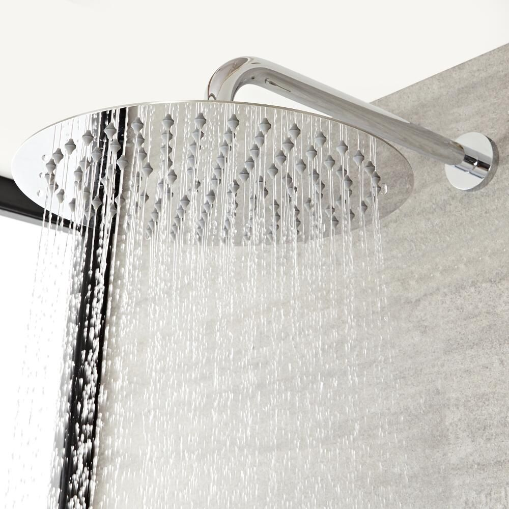 E-pak Bathroom Stainless Steel 24-Inch Round Wall Mounted Shower Arm Chrome