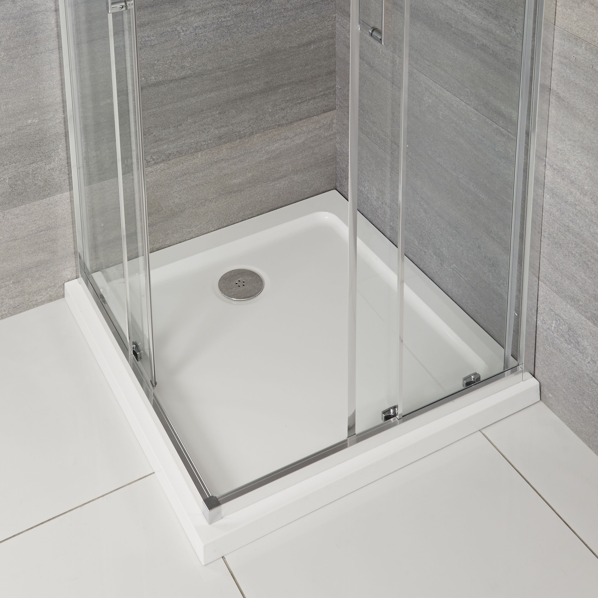 Milano Lithic Low Profile Square Shower Tray 760mm X 760mm