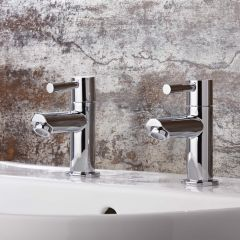 Milano Mirage Chrome Basin Pillar Taps