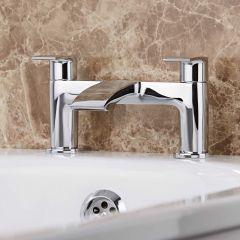 Milano Razor Chrome Bath Filler Tap