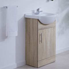 Milano Classic Oak 450mm Vanity Unit