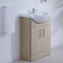 Milano Classic Oak 550mm Vanity Unit