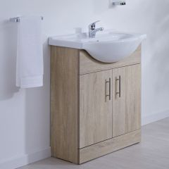 Milano Classic Oak 650mm Vanity Unit