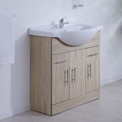 Milano Classic Oak 750mm Vanity Unit