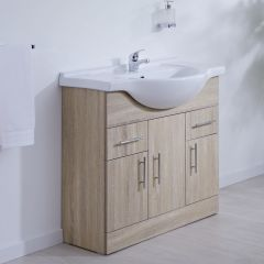 Milano Classic Oak 850mm Vanity Unit